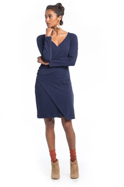 Synergy Organic Clothing- Mademoiselle Dress (Maritime Blue)