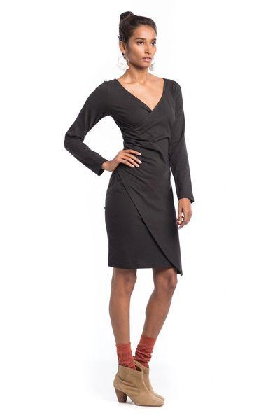 Synergy Organic Clothing- Mademoiselle Dress (Jet Black)
