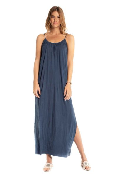 Synergy Organic Clothing-Deva Maxi Dress (Insignia blue)
