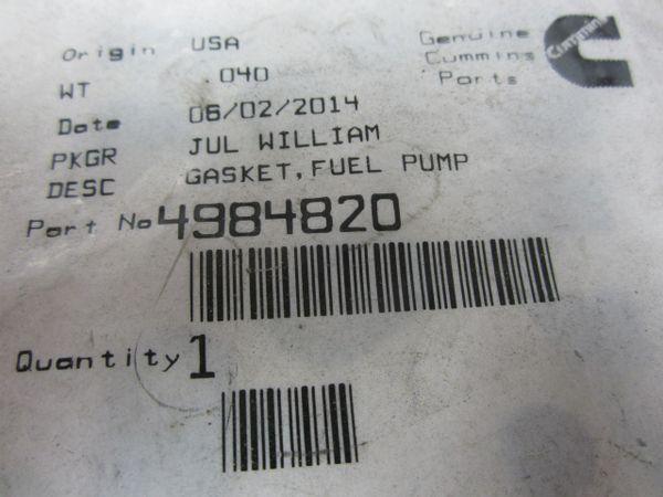 Cummins 4984820 Fuel Pump Gasket