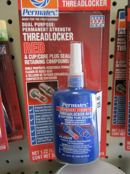 Permatex Threadlocker Red, 36 ml Bottle 26240