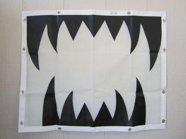 Peterbilt 379 Regular Hood Custom Bug Screen with 12 Tabs White