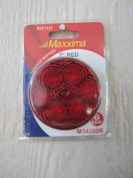 "Maxxima M34260R Red 2"" Round LED Clearance Marker Light"