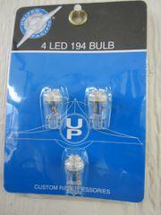 4 LED 193 Bulb White - Three Wedge Bottom Pack UP38277