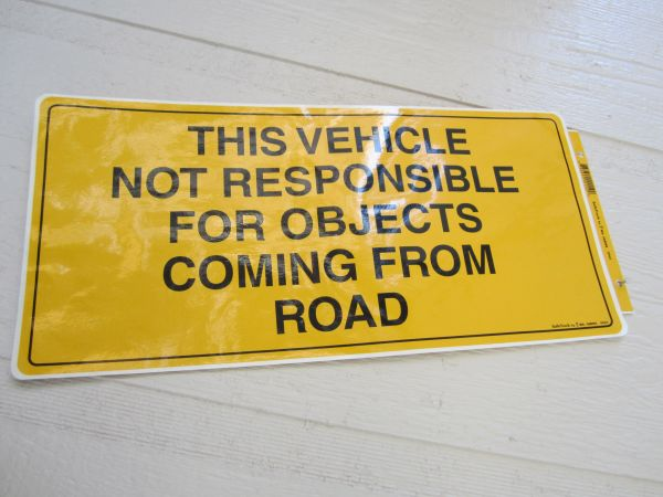 Road Object Warning Sign - Safetruck by Ms. Carita D962