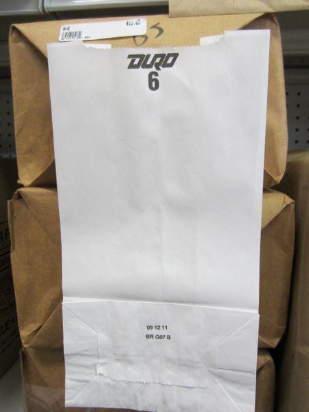 6# White Paper Bag
