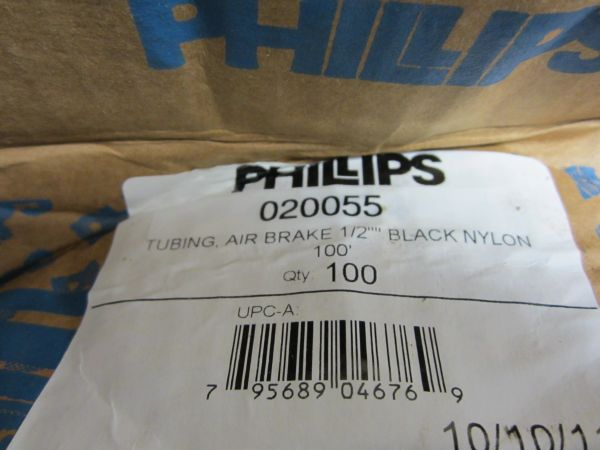 "1/2"" Black Nylon Tubing (020055) by the foot"