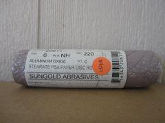 "220 Grit 6"" Disk Sandpaper Aluminim Oxide"