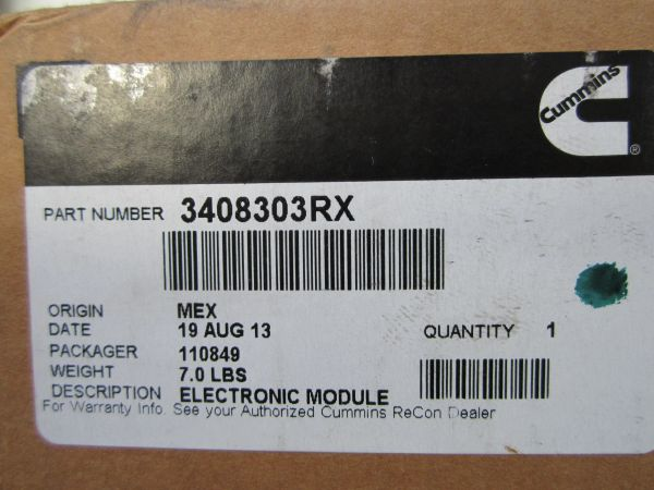 Cummins Electronic Module 3408303RX