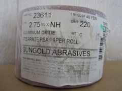 "Sungold 220 Grit 2.75"" Roll Sandpaper #23611"