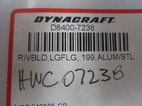 Dynacraft Blind Rived D8400-7238/HWC07238 BAG OF 4