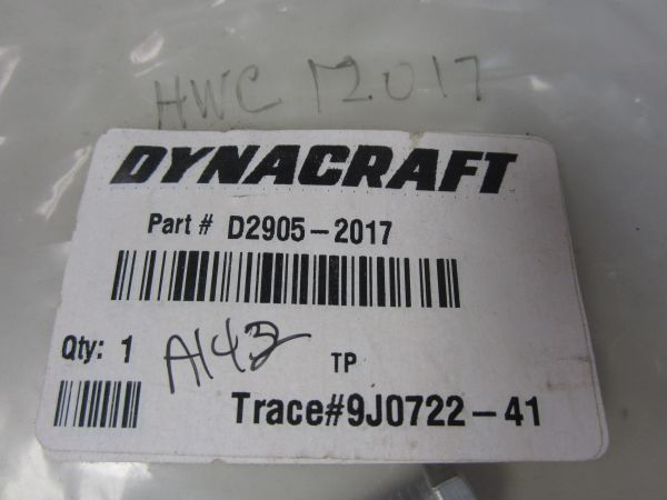 Dynacraft Hex Bolt D2905-2017/HWC12017 BAG OF FOUR