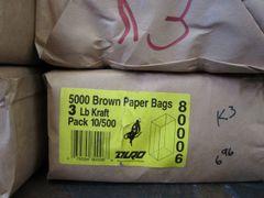 3# Brown Paper Bags