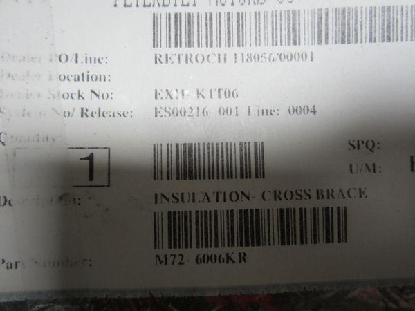 Cummins Cross Brace Insulation M72-6006