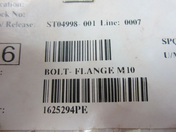 PACCAR 1625294PE Bolt-Flange M10 (bag of 6)