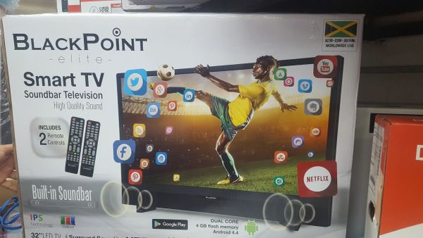 "Blackpoint 32"" Smart TV with Sound Bar"