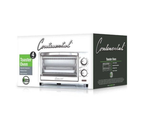 Continental 4 Slice Toaster Oven