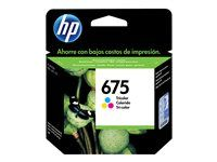 HP 675 - Color (cyan, magenta, yellow) - original
