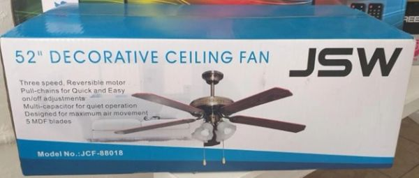 "JSW 52"" Ceiling Fan"