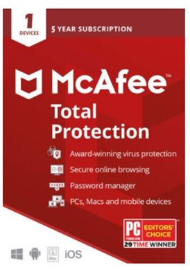 McAfee Total Protection 2020 1 Device 5 Years