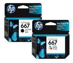 HP 667 Cartridges (Black or Color)