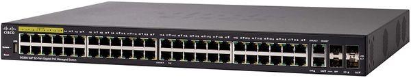 Cisco SG350-52P Managed Switch, 52 Gigabit Ethernet Ports, 48 Gigabit Ethernet RJ45 Ports, 2 SFP Slots, 2 Gigabit Ethernet Combo, 375W PoE, Limited Lifetime Protection (SG350-52P-K9-NA)