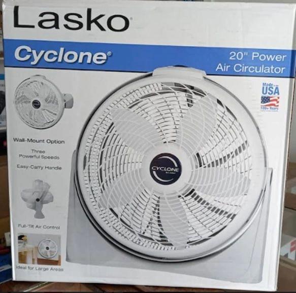 "LASKO Cyclone 20"" Power Air Circulator,"