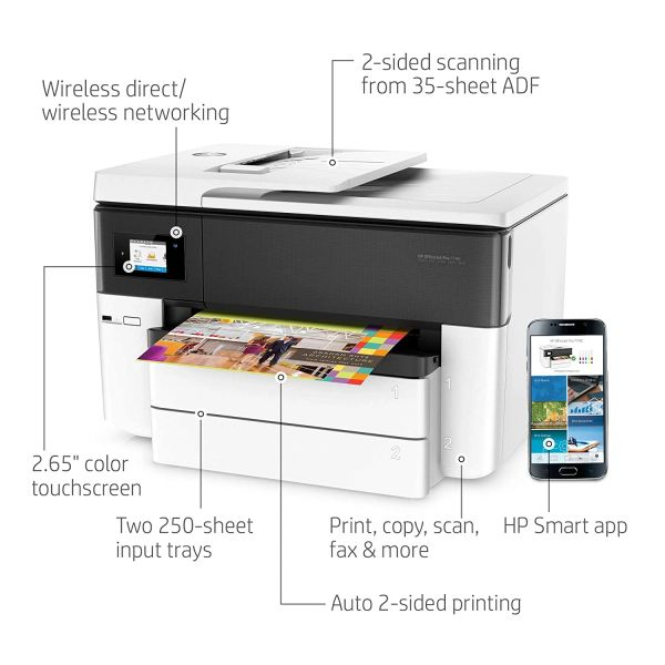 HP Officejet Pro 7740 All-in-One Color Duplex Printer
