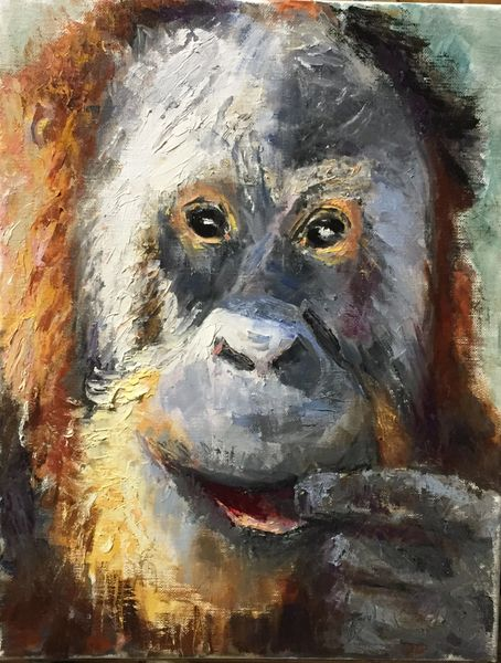 Oil Paintings by Wayne E Campbell (Funny Face)