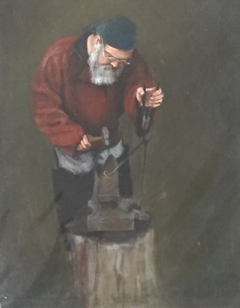 Giclee Print of (Iron Smith) from Oil Paintings by Wayne E Campbell