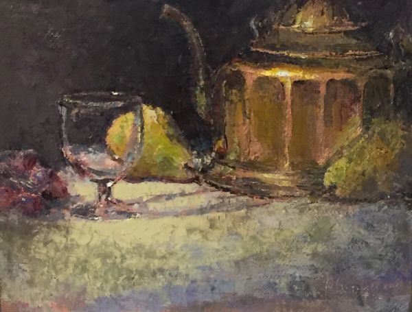 Oil Paintings by Wayne E Campbell (Brass And Glass)14x18