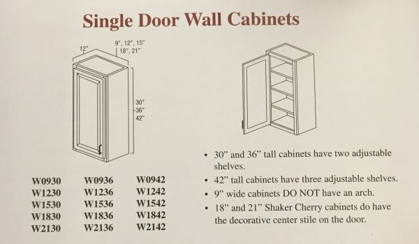 BGH 9x30 Wall Cabinet Square door (local pickup only).