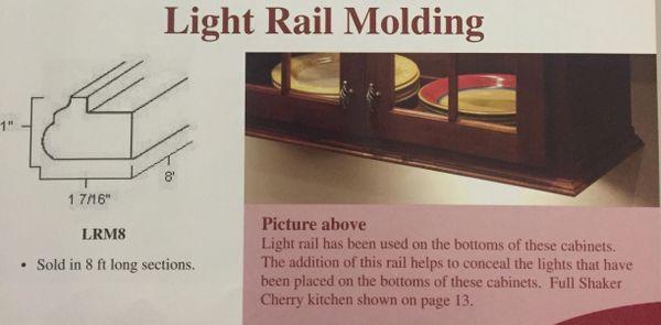 """White Shaker Light Rail Molding x 96"""""""