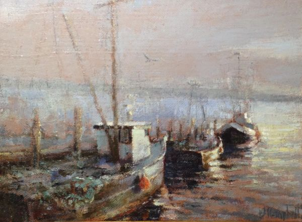 Oil Paintings by Wayne E Campbell (At The Dock)