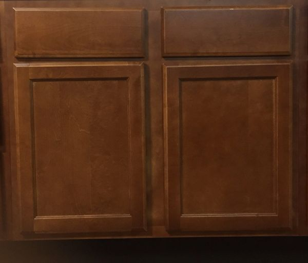 Bristol Brown Base Sink cabinet 36w x 24d x 34.5h (Local Pickup Only)
