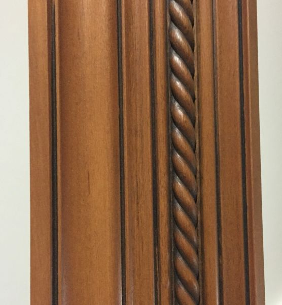 "Cherry Glazed Maple Crown Molding 96""x 4.25"" TMG (local pickup only)."