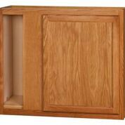 Chadwood Oak wall Corner cabinet 36w x 12d x 30h (Local Pickup Only)