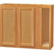 Chadwood Oak wall Corner cabinet 42w x 12d x 30h (Local Pickup Only)