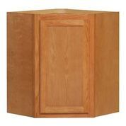 Chadwood Oak Angle wall cabinet 24w x 12d x 30h (Local Pickup Only)