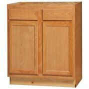 Chadwood Oak Base Peninsula cabinet 36w x 24d x 34.5h (Local Pickup Only)
