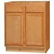 Chadwood Oak Base Peninsula cabinet 48w x 24d x 34.5h (Local Pickup Only)