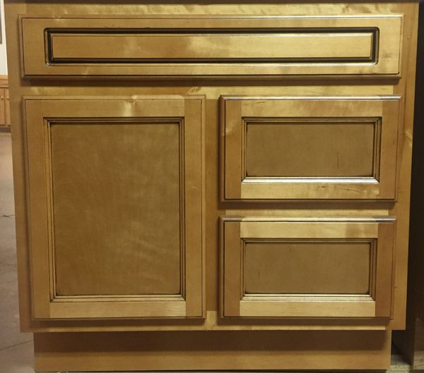 """Builder Grade Hickory Vanity 30""""w 21""""d x 30""""h (Local Pickup Only)"""