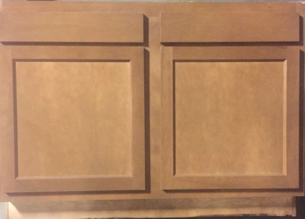 Warmwood Base Peninsula cabinet 48w x 24d x 34.5h (Local Pickup Only)