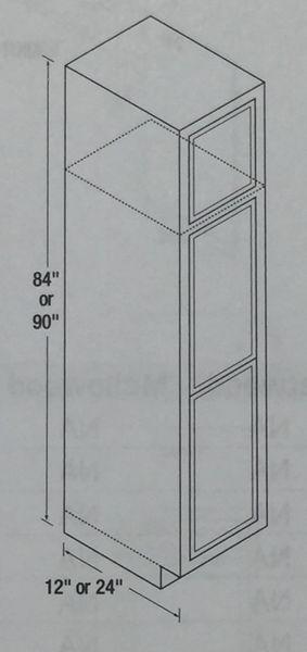 Warmwood 24 X 24 Broom Cabinet Cabinet Barn