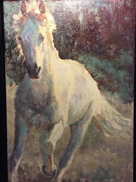 Oil Paintings by Wayne E Campbell (Coming In ) Horse