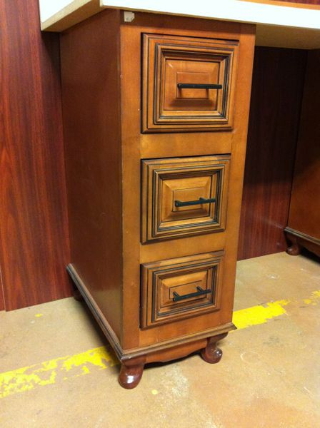 TMS Cherry Glazed Maple night stand / vanity 12w x 21d x 34.5h (local pickup only).