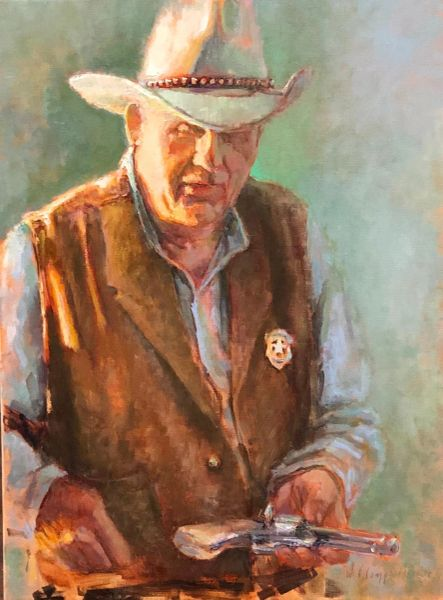 Giclee Print of (Sheriff Bob) from Oil Paintings by Wayne E Campbell