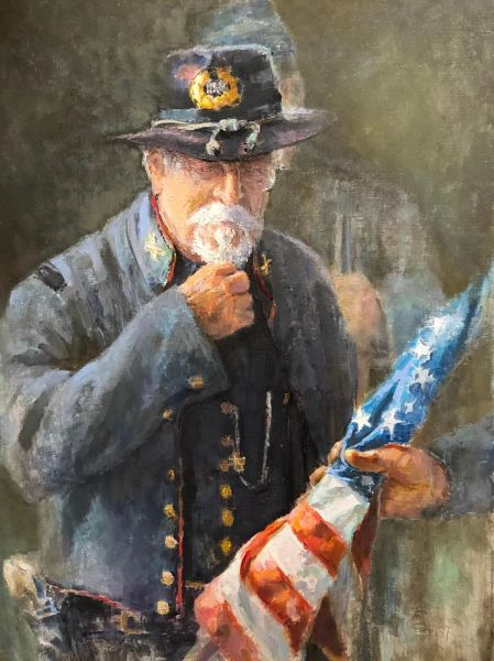 Giclee Print of (Taking The Flag) from Oil Paintings by Wayne E Campbell