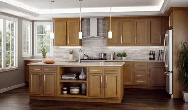 A Warmwood Sample 19' Kitchen $1779.90 all New or $1112.44 New but repaired scratch and dents (local pickup only).