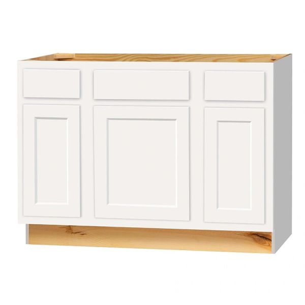 "D White Shaker Vanity Base cabinet with Drawers 42""w x 21""d x 34.5""h Local pick up only."